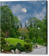 Moonrise Meditation Acrylic Print by Charles Warren