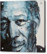 Morgan Freeman Acrylic Print by Paul Lovering