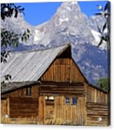 Mormon Row Barn  1 Acrylic Print by Marty Koch