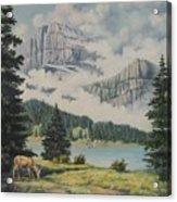 Morning At The Glacier Acrylic Print by Wanda Dansereau