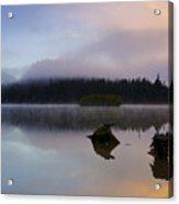 Morning Mist Burning Acrylic Print by Mike  Dawson