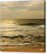 Morning On The Beach - Jersey Shore Acrylic Print by Angie Tirado