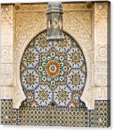 Moroccan Fountain Acrylic Print by Tom Gowanlock