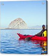 Morro Bay Kayaker Acrylic Print by Bill Brennan - Printscapes