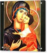 Mother Of God Antiochian Orthodox Icon Acrylic Print by Patrick Kelly