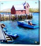 Motif One Rockport Harbor Acrylic Print by Jack Skinner