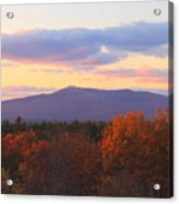 Mount Monadnock Autumn Sunset Acrylic Print by John Burk