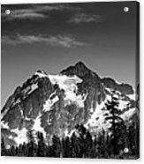 Mount Shuksan Black And White Cascade Mountains Washington Acrylic Print by Brendan Reals