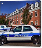 Mount Vernon Police Department Acrylic Print by June Marie Sobrito