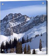 Mountain High - Salt Lake Ut Acrylic Print by Christine Till