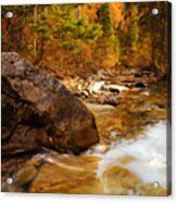Mountain Stream In Autumn Acrylic Print by Utah Images