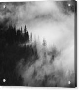Mountain Whispers Acrylic Print by Mike  Dawson