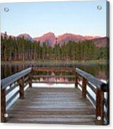 Mountains Behind Sprague Lake Acrylic Print by Lightvision, LLC