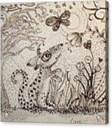 Mouse Acrylic Print by Kathleen Raven