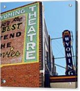 Movie Sign 1 Acrylic Print by Marilyn Hunt