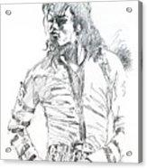 Mr. Jackson Acrylic Print by David Lloyd Glover