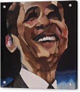 Mr. Obama Acrylic Print by Chelsea VanHook