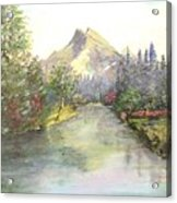 Mt Bundle Acrylic Print by Nicholas Minniti