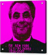 Mugshot John Gotti M88 Acrylic Print by Wingsdomain Art and Photography