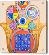 Multiple Solomaic Amulets Acrylic Print by Darren Stein
