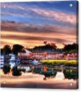 Murrells Inlet Sunset 3 Acrylic Print by Mel Steinhauer