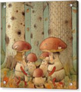 Mushrooms Acrylic Print by Kestutis Kasparavicius