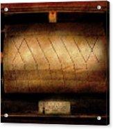 Music - Piano - Binary Code  Acrylic Print by Mike Savad