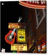 Music City Nashville Acrylic Print by Susanne Van Hulst