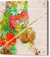 Music In My Soul Acrylic Print by Nikki Smith