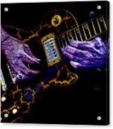 Musical Grunge  Acrylic Print by Steven  Digman
