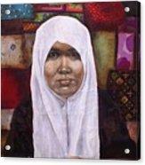 Muslim Woman Acrylic Print by Ixchel Amor