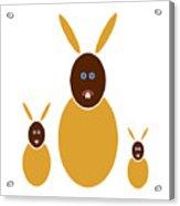 Mustard Bunnies Acrylic Print by Frank Tschakert