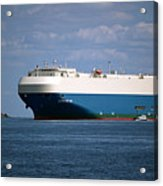 Mv Marvelous Ace Inbound Port Of Baltimore Acrylic Print by Wayne Higgs
