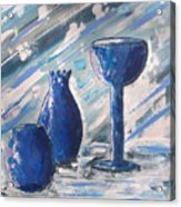 My Blue Vases Acrylic Print by J R Seymour