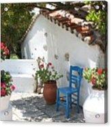 My Greek Garden Acrylic Print by Yvonne Ayoub