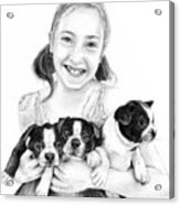 My Puppies Acrylic Print by Mike Ivey
