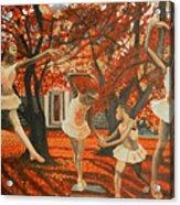My Spirit Rises In Fall Acrylic Print by Amira Najah Whitfield