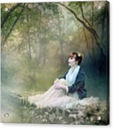 Mystic Contemplation Acrylic Print by Mary Hood