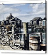Nantucket Bikes 1 Acrylic Print by Tammy Wetzel
