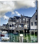 Nantucket Harbor In Summer Acrylic Print by Tammy Wetzel