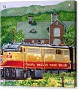 Napa Wine Train Acrylic Print by Gail Chandler