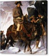 Napoleon Crossing The Alps Acrylic Print by Hippolyte Delaroche