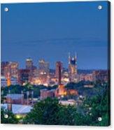 Nashville By Night 1 Acrylic Print by Douglas Barnett