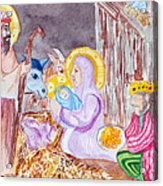 Nativity Acrylic Print by Jame Hayes