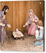 Nativity Scene Acrylic Print by Thomas R Fletcher