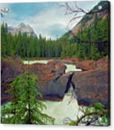 Natural Bridge Acrylic Print by Crystal Garner