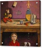 Naughty Child Acrylic Print by Leah Saulnier The Painting Maniac