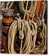 Nautical Knots 17 Oil Acrylic Print by Mark Myhaver