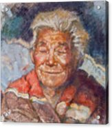 Navaho Wisdom Acrylic Print by Ellen Dreibelbis