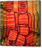 Ned Kelly Gang Art - Sunset Killers Acrylic Print by Joan Kamaru